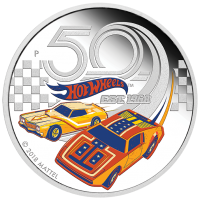 2018 $1 Hot Wheels Silver Proof