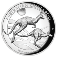 2018 $1 Kangaroo High Relief Silver Proof