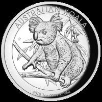 2018 $1 Koala Silver High Relief Proof