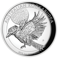 2018 $1 Kookaburra High Relief Silver