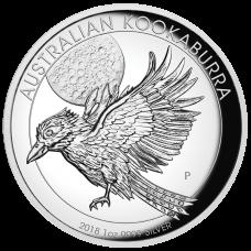 2018 $1 Kookaburra High Relief Silver