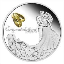 2018 $1 Wedding Silver Proof