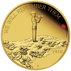 2018 $25 ANZAC Spirit - We will Remember Them Gold Proof
