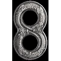 2018 $2 Figure 8 Dragon Silver Coin
