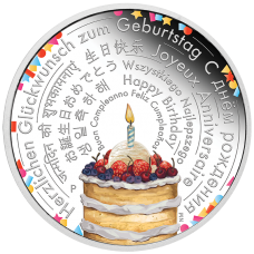 2018 $2 Birthday Wishes Silver Proof