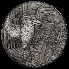 2018 $2 Kookaburra Antique Silver Coin