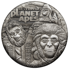 2018 $2 Planet of the Apes Antique Coin