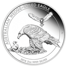 2018 $2 Wedgetail Eagle Silver Piedfort Proof