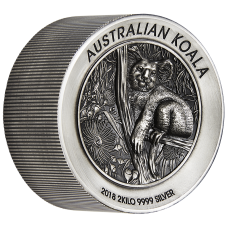 2018 $60 Koala Antique High Relief Silver Coin