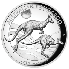 2018 $8 Kangaroo High Relief Silver Proof