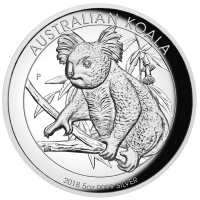 2018 $8 Koala Silver High Relief Proof