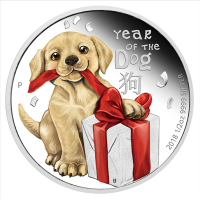 2018 50c Baby Dog Silver Proof
