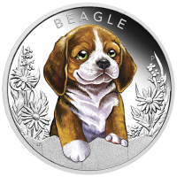 2018 50c Puppies - Beagle Silver Proof