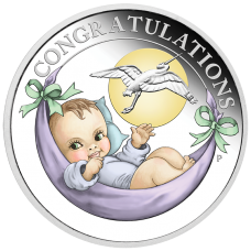2018 50c Newborn Silver Proof