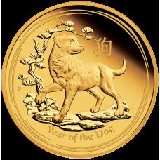 2018 $15 Lunar Dog Gold Proof (PM)