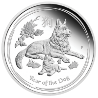 2018 $1 Lunar Dog Silver Proof (PM)
