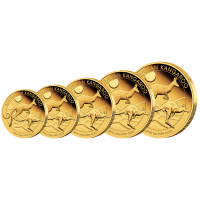 2018 Kangaroo 5 Coin Gold Proof Set