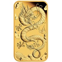 2019 $100 Dragon Rectangle Gold Proof