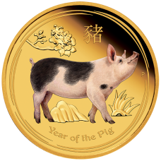 2019 $100 Gold Coloured Pig