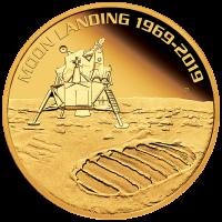 2019 $100 Moon Landing Gold High Relief Proof