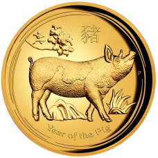 2019 $100 Pig Gold High Relief Proof