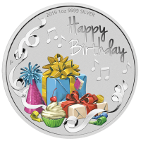 2019 $1 Happy Birthday Silver Proof