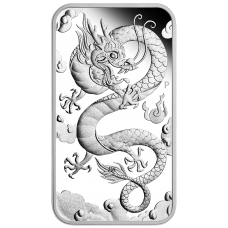 2019 $1 Dragon Rectangle Silver Proof