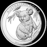 2019 $1 Koala Silver High Relief Proof