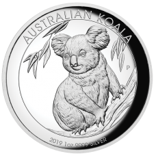 2019 $1 Koala Silver High Relief Proof