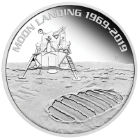 2019 $1 Moon Landing Silver Proof