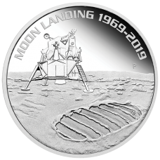 2019 $1 Moon Landing Silver Proof