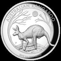 2019 $1 Kangaroo High Relief Silver Proof