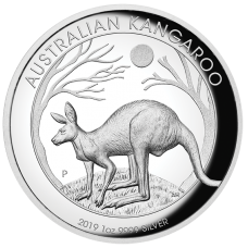 2019 $1 Kangaroo High Relief Silver Proof