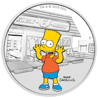 2019 $1 Simpsons - Bart Silver Proof