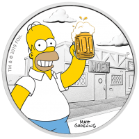 2019 $1 Simpsons - Homer Silver Proof
