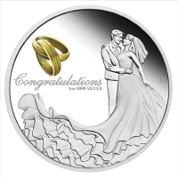 2019 $1 Wedding Silver Proof