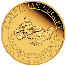 2019 $25 Welcome Stranger Gold Proof
