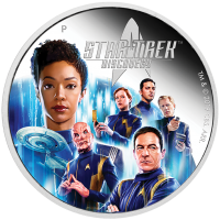 2019 $2 Star Trek Discovery Crew Silver Proof