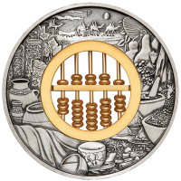 2019 $2 Abacus Antique Silver Coin