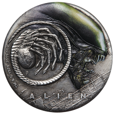 2019 $2 Alien Antique Silver Proof