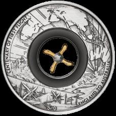 2019 $2 First Flight Antique Silver Coin