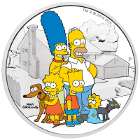 2019 $2 Simpsons - Family Silver Proof
