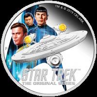 2019 $2 Star Trek Enterprise - Crew Silver Proof