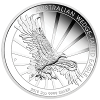 2019 $2 Wedgetail Eagle Silver Piedfort Proof