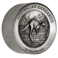 2019 $60 Kangaroo Antique Silver Proof