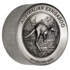 2019 $60 Kangaroo Antique Silver Proof