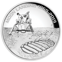 2019 $8 Moon Landing Silver High Relief Proof