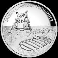 2019 $8 Moon Landing Silver High Relief Proof