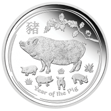 2019 $30 Lunar Pig Silver Proof