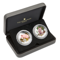 2019 $1 Wealth and Wisdom 2 coin silver set